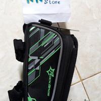 Tas frame sepeda untuk gowes ada rain cover merk rock bros HP 4.8