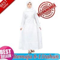 Baju Gamis Anak Tanggung Remaja Warna Putih *Kiddostore*