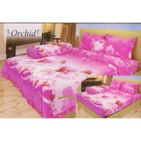 SPREI LADY ROSE INTERNAL 160 B4 ORCHID 160X200 BANTAL 4 QUEEN SIZE NO.