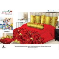 BEDCOVER SET LADY ROSE INTERNAL 180 LARISSA 180X200 BED COVER SET KING