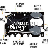 EXCLUSIVE Wallet Ninja 18in1 Multi Purpose Credit Card Sized Pocket T