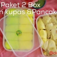 Durian Kupas & Pancake Durian - Paket 2 Box Durian Kupas & Pancake