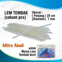 Jual Lem Tembak Lilin/Glue Gun Stick Kecil 25 cm x 7 mm Murah
