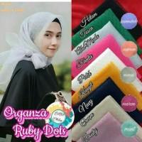 Jilbab Organza Ruby Dot