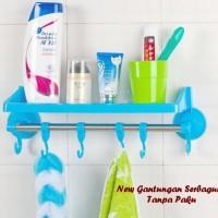 gantungan serbaguna tanpa paku untuk dapur kamar mandi