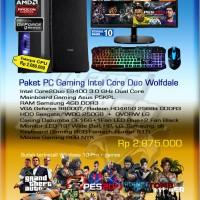 Komputer PC rakitan paket gaming Core Duo
