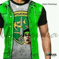Jual Kaos fans Open Persebaya Surabaya jersey sepakbola 3d Umakuka PO Murah