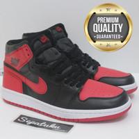 5ebecdee9551 Sepatu Nike Air Jordan 1 Retro High OG Banned - Premium Quality