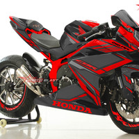 Decal stiker cbr250rr red carbon black