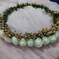 flower crown /mahkota bunga /aksesoris wedding /hiasan kepala hijab