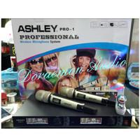 mic wireless ashley pro 1 champ atau black dipilih yg tersedia