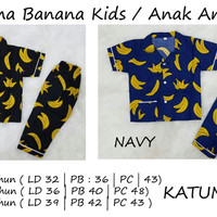 85-banana Pajamas Kids (xl) - Piyama Anak