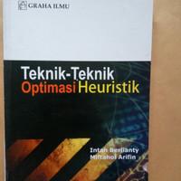 Teknik tekhnik optimasi heuristik intan berlianty miftahol arifin buku