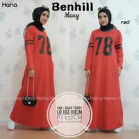 Baju Terusan Wanita Muslim Longdress Benhill maxy