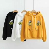 Hoodie sweater cewek / jaket lucu / Baju wanita murah : Bee sweater
