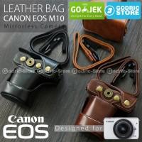 Canon EOS M10 Leather Bag / Case / Tas Kamera Kulit 15-45  / 18-55 MM