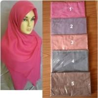 Hijab Jilbab Pashmina Persegi4 Rawis Polos