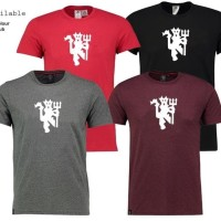 KAOS T-SHIRT MANCHESTER UNITED RED DEVILS LOGO