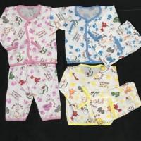 stelan baju tidur piyama bayi dinosaurus kancing depan celana karet