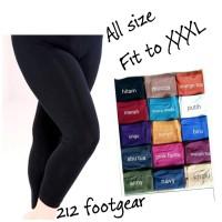 celana tidur wanita jumbo / legging panjang polos big size fit to XXXL