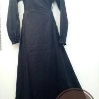 Murah! Gamis Motif Bunga Tanah Abang|Baju Muslim Syari Busui Friendly