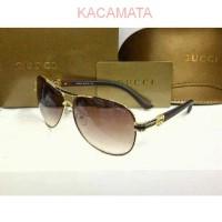 IMPORT ASLI - Kacamata Sunglass Gucci Coklat W828