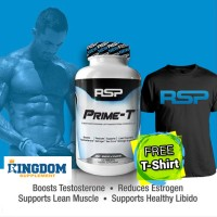 RSP Prime-T 120tabs PrimeT Prime T FREE T-Shirt + Whey / BCAA / dll