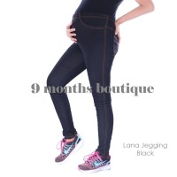 Celana Hamil LANA JEGGING BLACK / Baju Wanita Murah Bagus Modis