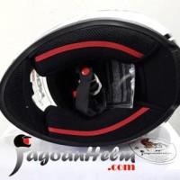 Jual KBC Helm VR EYE Ball | White | Fullface DDring Visor Flat
