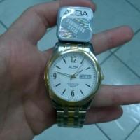 Jam tangan pria analog Alba (vx43-x080) stainless steel kombinasi