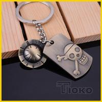 Keychain Gantungan Kunci One Piece Luffy Lambang Bajak Laut Mugiwara