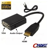 NYK HDMI to VGA Adapter with Audio Cable Adaptor BLACK - NYK-HDAMVGFAD