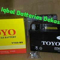 aki motor toyo YTX 9 - BS Untuk kawasaki Ninja 250cc