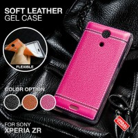 Soft Leather Gel Case Sony Xperia ZR Softcase Silikon Silicon Casing