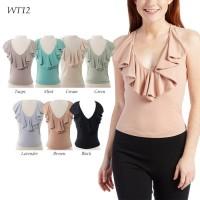 WT12  Ruffle Tops - Blus- Atasan Wanita MURAH