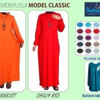 Gamis Menyusui Classic Jumbo 3XL Besar pakaian busana muslimah trend