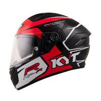 Helm Motor Full Face Fullface KYT NFR Casco Black Red Murah Original