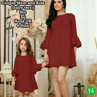dress long blouse couple ibu dan anak