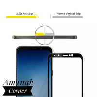SAMSUNG A8 PLUS / A8+ 2018 FULL COVER TEMPERED GLASS