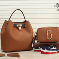 HERMES Kaylin With Snapshot 2in1 Clemence Leather 3318