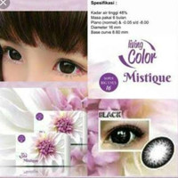 Softlens LC living color mistique softlense black big eyes