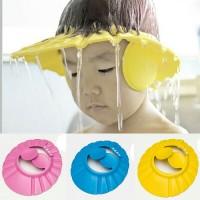 Topi mandi keramas anak & bayi kancing dengan tutup kuping shower hat