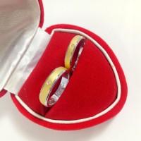 cincin kawin/tunangan sepasang/couple emas putih berlian eropa diamond