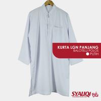 Kurta / Gamis Saudi / Atasan Pria - Optima Polos Putih