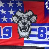 bendera arema ( jumbo )