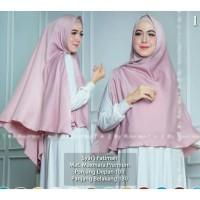 Hijab Instan Khimar Syari Belah samping Kanan kiri bros pita Fatimah