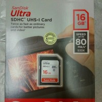 Harga sandisk ultra sdhc uhs 1 card 16 gb speed up to 80 mb s sd | antitipu.com
