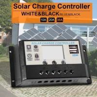 SALE. Panel Tenaga Surya Lampu Pwm Usb Lcd 12/24v Solar Charge