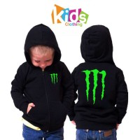 Jaket Sweater Anak Anak Monster Energy - Custom Kids clothing