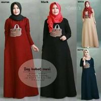 baju murah terusan maxi dress gamis casual muslim wanita LH BAG BABAT